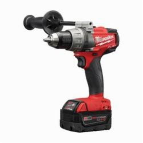 Milwaukee® 2703-22 M18™ FUEL™ Cordless Drill/Driver Kit, 1/2 in Chuck, 18 VDC, 0 to 550/0 to 2000 rpm No-Load, 7-1/2 in OAL, Lithium-Ion Battery