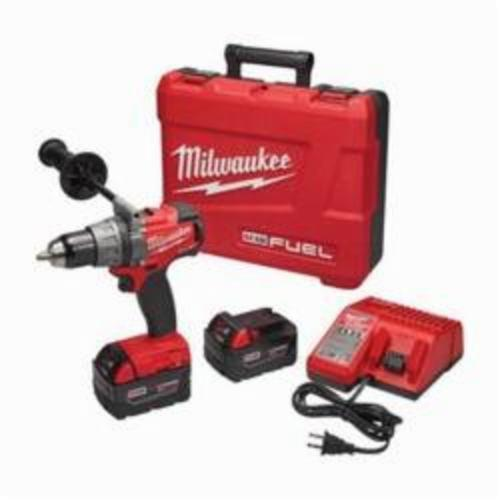 Milwaukee® M18™ FUEL™ 2803-22 Cordless Drill/Driver Kit, 1/2 in Chuck, 18 VDC, 2000 rpm No-Load, 6.9 in OAL, REDLITHIUM™ Battery