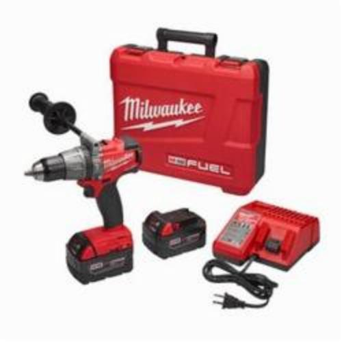 Milwaukee® 2704-22 M18™ FUEL™ Cordless Hammer Drill/Driver Kit, 1/2 in Keyless Chuck, 18 VDC, 0 to 550 rpm, 0 to 2000 rpm No-Load, Lithium-Ion Battery