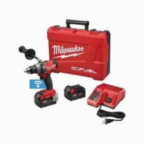Milwaukee® 2705-22 M18™ FUEL™ Cordless Drill/Driver Kit, 1/2 in Chuck, 18 VDC, 0 to 550/0 to 2000 rpm No-Load, 7.2 in OAL, Lithium-Ion Battery