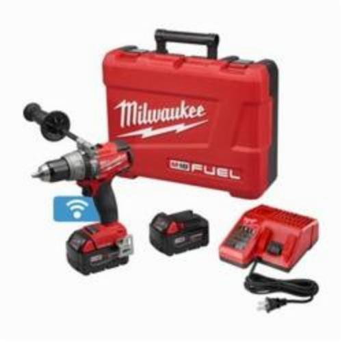 Milwaukee® 2706-22 M18™ FUEL™ Cordless Hammer Drill/Driver Kit, 1/2 in Keyless Chuck, 18 VDC, 0 to 550/0 to 2000 rpm No-Load, Lithium-Ion Battery
