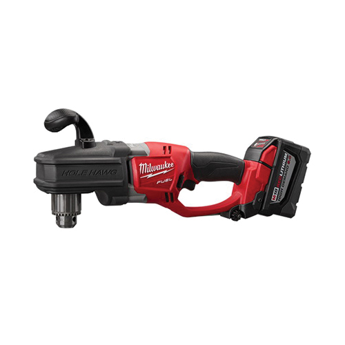 Milwaukee® 2707-22HD M18™ FUEL™ High DEMAND™ HOLE HAWG® Cordless Right Angle Drill Kit, 1/2 in Metal Chuck, 18 VDC, 650 ft-lb, 0 to 1200 rpm No-Load, 17 in OAL, Lithium-Ion Battery
