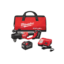 Milwaukee® M18™ FUEL™ 2707-22HD HighDEMAND™ HOLE HAWG® Cordless Right Angle Drill Kit, 1/2 in Metal Chuck, 18 VDC, 650 ft-lb Torque, 0 to 1200 rpm No-Load, 17 in OAL, Lithium-Ion Battery