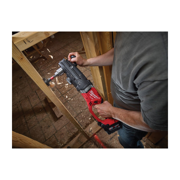 Milwaukee® 2709-22HD M18™ FUEL™ High DEMAND™ SUPER HAWG™ Cordless Right Angle Drill Kit, 1/2 in Metal Keyed Chuck, 18 VDC, 0 to 350/0 to 950 rpm No-Load, 22 in OAL, Lithium-Ion Battery