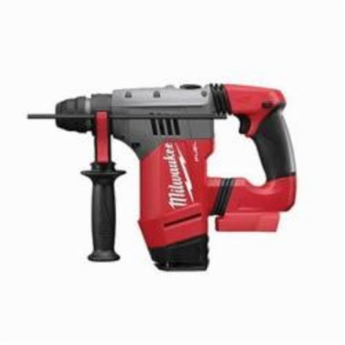 Milwaukee® 2715-20 M18™ FUEL™ Cordless Rotary Hammer, 1-1/8 in Keyless/SDS Plus® Chuck, 18 VDC, 1350 rpm No-Load, Lithium-Ion Battery