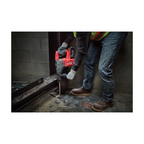 Milwaukee® 2717-21HD M18™ FUEL™ Cordless Rotary Hammer Kit, 42378 in SDS Max® Chuck, 18 VDC, 0 to 450 rpm No-Load, Lithium-Ion Battery