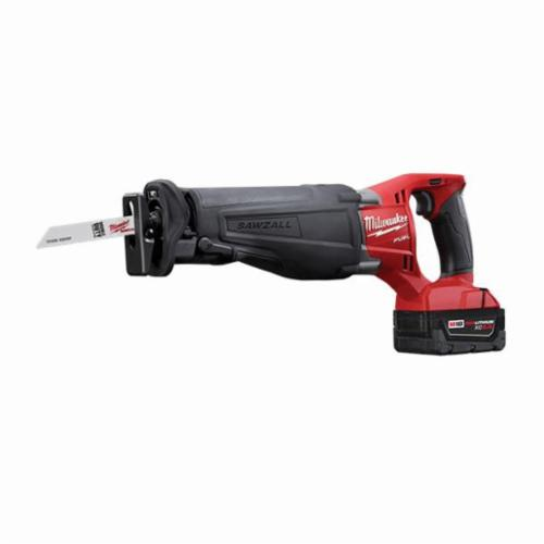 Milwaukee® M18™ FUEL™ SAWZALL™ 2720-21 Adjustable Shoe Cordless Reciprocating Saw Kit, 1-1/8 in L Stroke, 0 to 3000 spm, Straight Cut, 18 VDC, 18-1/2 in OAL