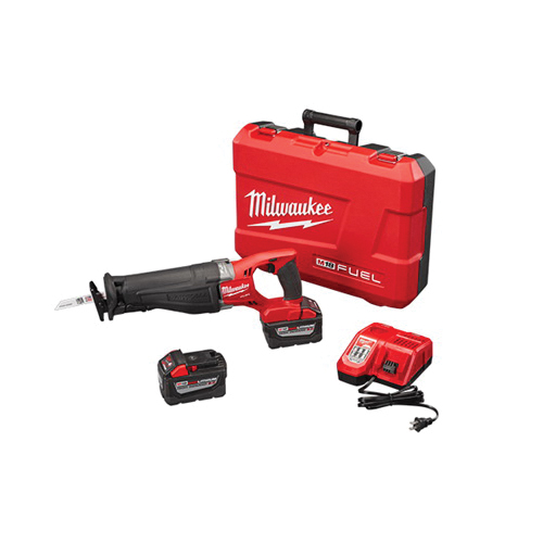 Milwaukee® M18™ FUEL™ SAWZALL™ 2720-22HD Adjustable Shoe Anti-Vibration High Demand Cordless Reciprocating Saw Kit, 1-1/8 in L Stroke, 0 to 3000 spm, In-Line Cut, 18 VDC, 18-1/2 in OAL