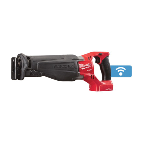 Milwaukee® 2721-20 M18™ FUEL™ SAWZALL® Adjustable Shoe Adjustable Shoe Anti-Vibration Cordless Reciprocating Saw With ONE-KEY™, 1-1/8 in L Stroke, 0 to 3000 spm, Straight Cutting, 18 VDC, 17-3/4 in OAL, Bare Tool