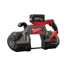 Milwaukee® 2729-22HD Cordless Band Saw Kit, 5 x 5 in Cutting, 44-7/8 in Blade, 18 VDC, 9 Ah Lithium-Ion Battery