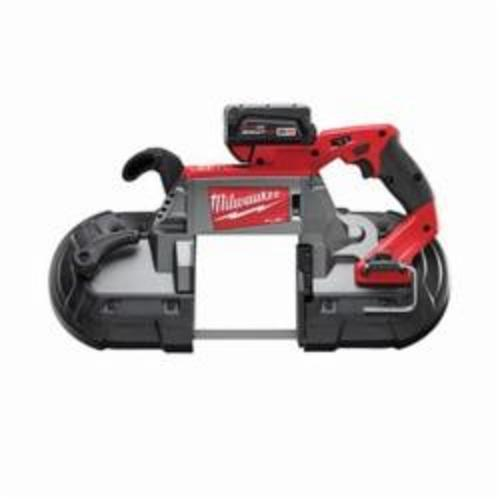 Milwaukee® 2729-22 M18™ FUEL™ Cordless Band Saw Kit, 5 in Cutting, 44.875 in L x 0.5 in W x 0.02 in THK Blade, 18 VDC, 5 Ah Lithium-Ion Battery