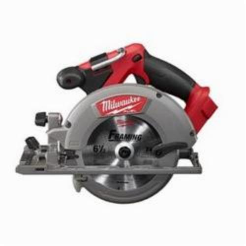 Milwaukee® M18™ FUEL™ 2730-20 Cordless Circular Saw, 6-1/2 in Blade, 5/8 in Arbor/Shank, 18 VDC, 1-5/8 in, 2-3/16 in D Cutting, Lithium-Ion Battery, Bare Tool