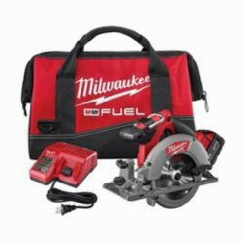 Milwaukee® 2730-21 M18™ FUEL™ Cordless Circular Saw Kit, 6-1/2 in Blade, 5/8 in Arbor/Shank, 18 VDC, Lithium-Ion Battery