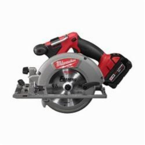 Milwaukee® M18™ FUEL™ 2730-22 Cordless Circular Saw Kit, 6-1/2 in Blade, 5/8 in Arbor/Shank, 18 VDC, 1-5/8 in, 2-3/16 in D Cutting, Lithium-Ion Battery