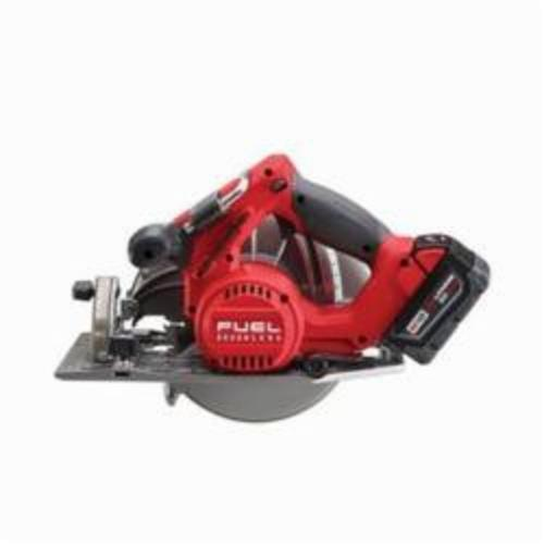 Milwaukee® 2731-22 M18™ FUEL™ Cordless Circular Saw Kit, 7-1/4 in Blade, 5/8 in Arbor/Shank, 18 VDC, 1-7/8 in, 2-1/2 in D Cutting, Lithium-Ion Battery