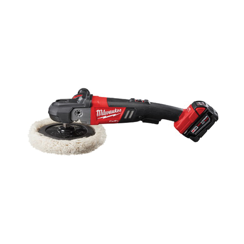 Milwaukee® 2738-22 M18™ FUEL™ Cordless Polisher Kit, 7 in Dia Pad, 18 VDC, M18™ REDLITHIUM™ Battery, Glass Filled Nylon Housing
