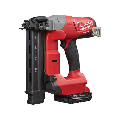 Milwaukee® 2740-21CT M18™ FUEL™ Cordless Brad Nailer Kit, 5/8 to 2-1/8 in Fastener, 110 Nails Magazine, 11-29/32 in OAL, Battery Power