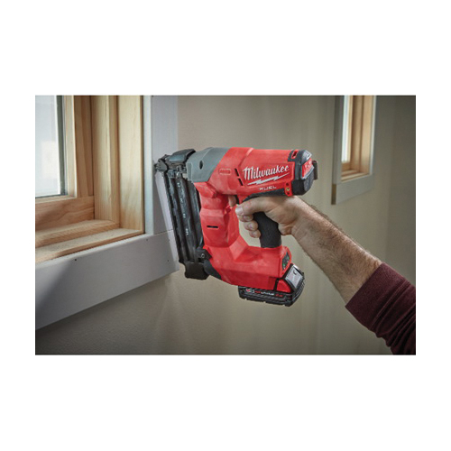 Milwaukee® M18™ FUEL™ 2740-21CT Cordless Brad Nailer Kit, 5/8 to 2-1/8 in Fastener, 110 Nails Nails Magazine, 11-29/32 in OAL, Battery