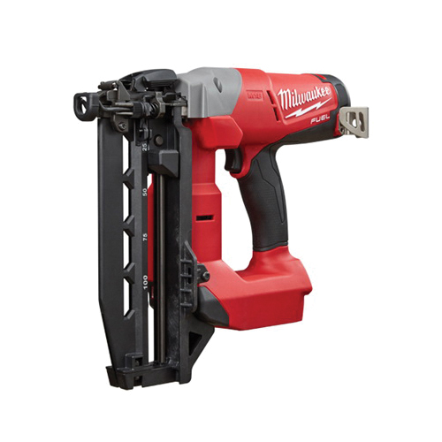 Milwaukee® 2741-20 M18™ FUEL™ 16 ga Straight Finish Cordless Nailer, 3/4 to 2-1/2 in Fastener, 110 Nails Magazine, 11-29/32 in OAL, Bare Tool