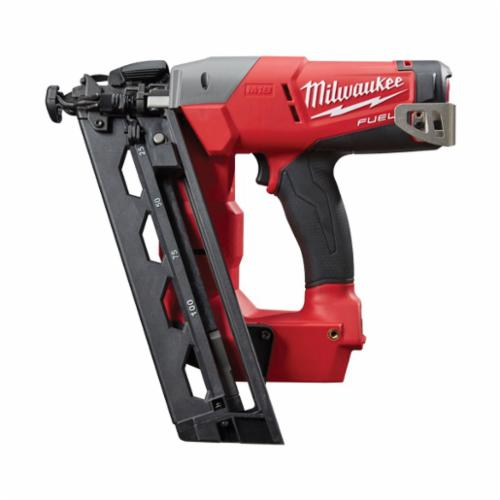 Milwaukee® 2742-20 M18™ FUEL™ Cordless Finish Nailer, 1-1/4 to 2-1/2 in Fastener, 110 Nails Magazine, 11-29/32 in OAL, Battery Power, Bare Tool
