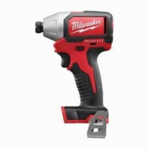 Milwaukee® 2750-20 M18™ Brushless Compact Cordless Impact Driver, 1/4 in Hex/Straight Drive, 3600 bpm, 1500 in-lb Torque, 18 VAC, 5-3/8 in OAL