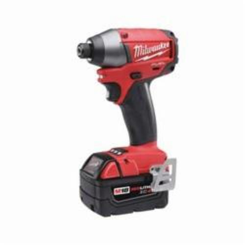 Milwaukee® 2753-22 M18 FUEL™ Cordless Impact Driver Kit, 1/4 in Hex Drive, 0 to 3700 ipm, 1800 in-lb, 18 VAC, 5-1/4 in OAL