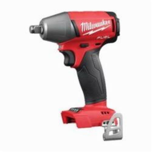 Milwaukee® 2755B-20 M18 FUEL™ Compact Cordless Impact Wrench With Pin Detent, 1/2 in, 0 to 3200 ipm, 220 ft-lb, 18 VDC, 6.1 in OAL