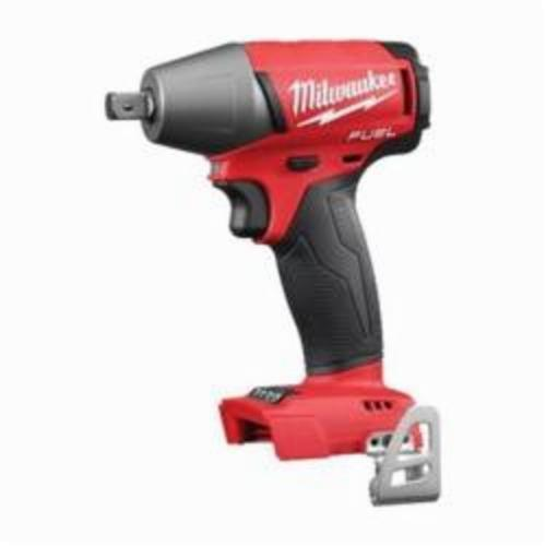 Milwaukee® 2755-20 M18 FUEL™ Compact Cordless Impact Wrench With Pin Detent, 1/2 in Straight Drive, 0 to 3200 ipm, 220 ft-lb, 18 VDC, 6 in OAL