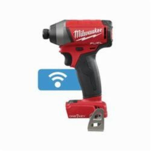 Milwaukee® 2757-20 M18 FUEL™ Cordless Impact Driver, 1/4 in Hex/Straight Drive, 0 to 3700 ipm, 1800 in-lb, 18 VAC, 5-1/4 in OAL