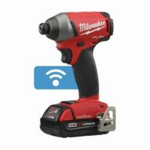 Milwaukee® 2757-22CT M18 FUEL™ Cordless Impact Driver Kit, 1/4 in Hex/Straight Drive, 0 to 3700 ipm, 0 to 1800 in-lb, 18 VAC, 5-1/4 in OAL