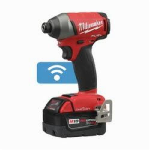 Milwaukee® 2757-22 M18 FUEL™ Cordless Impact Driver Kit, 1/4 in Hex/Straight Drive, 0 to 3700 ipm, 0 to 1800 in-lb, 18 VAC, 5-1/4 in OAL