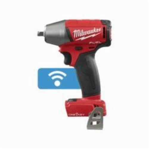 Milwaukee® 2758-20 M18 FUEL™ Compact Cordless Impact Wrench With Friction Ring, 3/8 in Straight Drive, 0 to 3200 ipm, 210 ft-lb, 18 VDC, 5.9 in OAL
