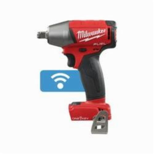 Milwaukee® 2759B-20 M18 FUEL™ Compact Cordless Impact Wrench With Friction Ring, 1/2 in Straight Drive, 0 to 3200 ipm, 220 ft-lb, 18 VDC, 6.1 in OAL