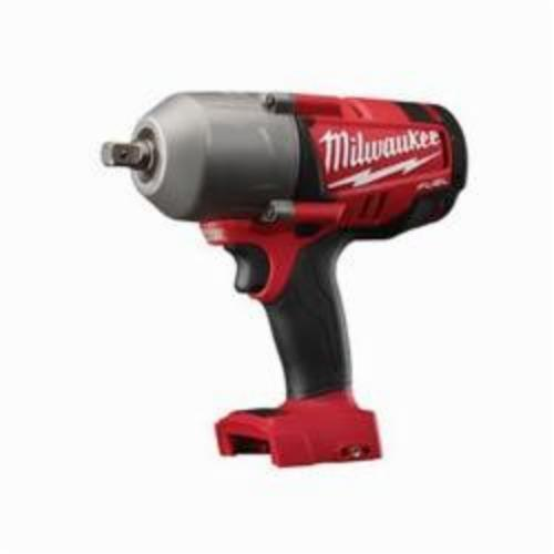 Milwaukee® 2762-20 M18 FUEL™ High Torque Cordless Impact Wrench With Pin Detent, 1/2 in Straight Drive, 1700/2300 bpm, 350/600 ft-lb, 18 VDC, 8-3/4 in OAL