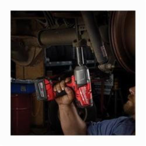 Milwaukee® 2763-22 M18 FUEL™ Cordless Impact Wrench Kit With Friction Ring, 1/2 in Square Drive, 2300 bpm, 700 ft-lb, 18 VDC, 9 in OAL