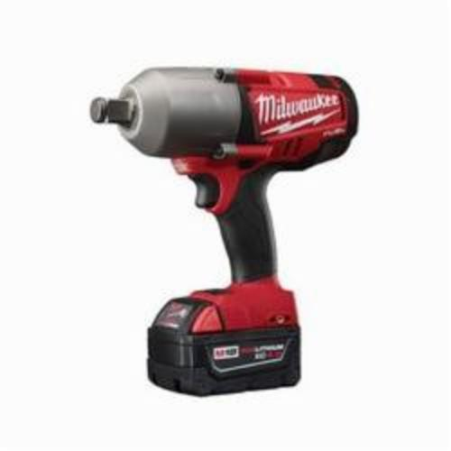 Milwaukee® 2764-22 M18 FUEL™ High Torque Cordless Impact Wrench Kit With Friction Ring, 3/4 in Straight Drive, 1700/2300 bpm, 375 ft-lb (Mode 1), 750 ft-lb (Mode 2), 18 VDC, 9 in OAL