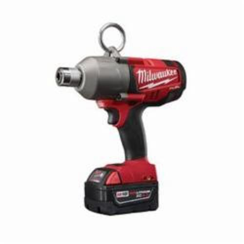 Milwaukee® 2765-22 M18 FUEL™ High Torque Cordless Impact Wrench Kit, 7/16 in Hex/Straight Drive, 1700/2300 bpm, 300/500 ft-lb, 18 VDC, 8-3/4 in OAL