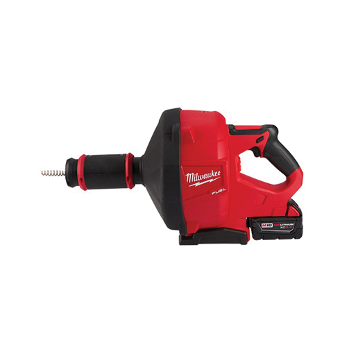Milwaukee® 2772B-21XC M18 FUEL™ Cordless Drain Gun Kit With CABLE-DRIVE™ Locking Feed System, 50 ft Max Run, 18 VDC, Plastic Housing