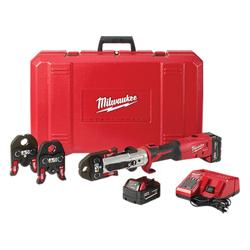 Milwaukee® 2773-22L M18™ FORCE LOGIC™ Cordless Long Throw Press Tool Kit, 18 VAC, Lithium-Ion Battery