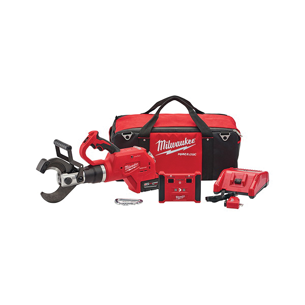 Milwaukee® 2776R-21 M18™ FORCE LOGIC™ Cordless Cable Cutter Kit With Wireless Remote, Up to 1500 MCM Cutting, 18 VDC, 5 Ah Lithium-Ion Battery