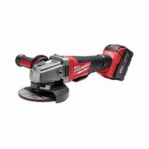Milwaukee® M18™ FUEL™ 2780-21 Cordless Grinder Kit, 5 in Dia Wheel, 5/8-11 Arbor/Shank, 18 VDC, Lithium-Ion Battery, 1 Battery, Paddle No-Lock Switch