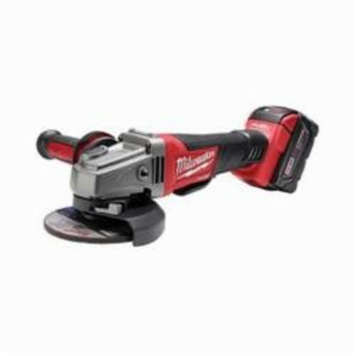 Milwaukee® M18™ FUEL™ 2780-22 Cordless Grinder Kit, 5 in Dia Wheel, 5/8-11 Arbor/Shank, 18 VDC, Lithium-Ion Battery, 2 Batteries, Paddle No-Lock Switch
