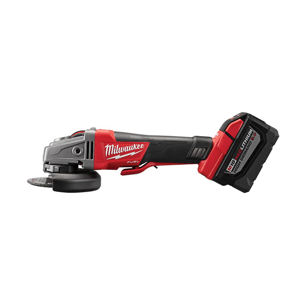 Milwaukee® 2783-22HD M18™ FUEL™ Cordless Angle Grinder Kit, 5 in Dia Wheel, 5/8-11 Arbor/Shank, 18 VDC, M18™ REDLITHIUM™ Battery, 2 Batteries, Paddle No-Lock Switch