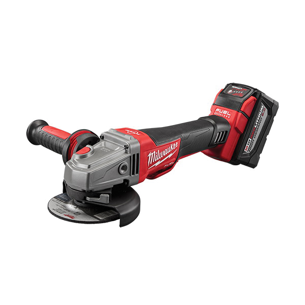 Milwaukee® M18™ FUEL™ 2783-22HD Cordless Angle Grinder Kit, 5 in Dia Wheel, 5/8-11 Arbor/Shank, 18 VDC, M18™ REDLITHIUM™ Battery, 2 Batteries, Paddle No-Lock Switch