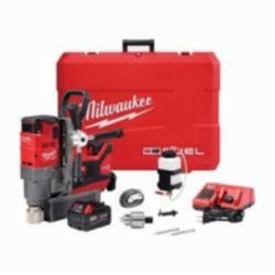 Milwaukee® 2787-22 M18™ FUEL™ Permanent Magnetic Drill Kit, 3/4 in Chuck, 1-1/4 in Drill to Center From Base, 400/690 rpm Spindle Speed, 18 VDC