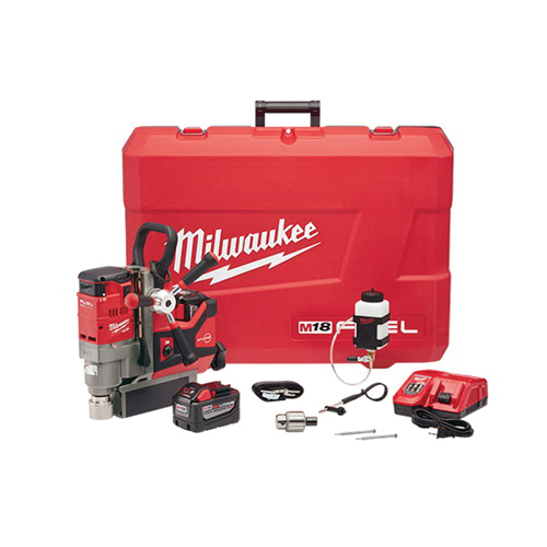 Milwaukee® 2788-22HD M18™ FUEL™ Magnetic Drill Kit, 3/4 in Chuck, 18 VDC, 400/690 rpm No-Load, Lithium-Ion Battery