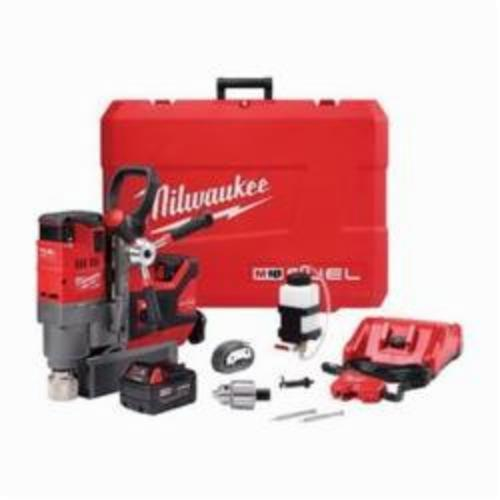 Milwaukee® 2788-22 M18™ FUEL™ Lineman's Magnetic Drill Kit, 3/4 in Chuck, 1-1/4 in Drill to Center From Base, 400/690 rpm Spindle, 18 VDC