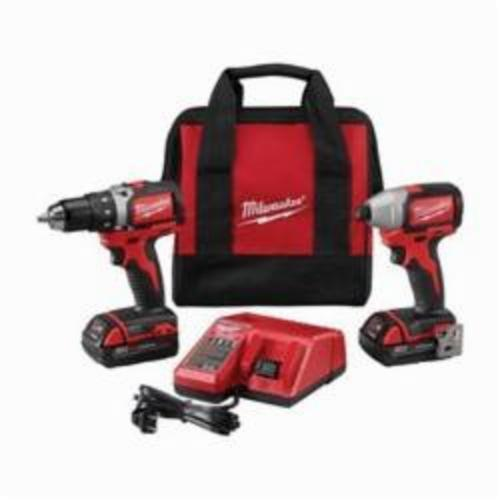 Milwaukee® 2798-22CT M18™ Compact Brushless Impact Cordless Combination Kit, Tools: Drill, Impact Driver, 18 VDC, 2 Ah Lithium-Ion, Keyless Blade
