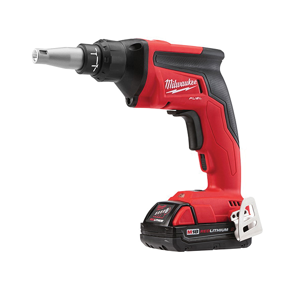 Milwaukee® M18™ FUEL™ 2866-22CT Compact Drywall Screwgun Kit, Lithium-Ion Battery
