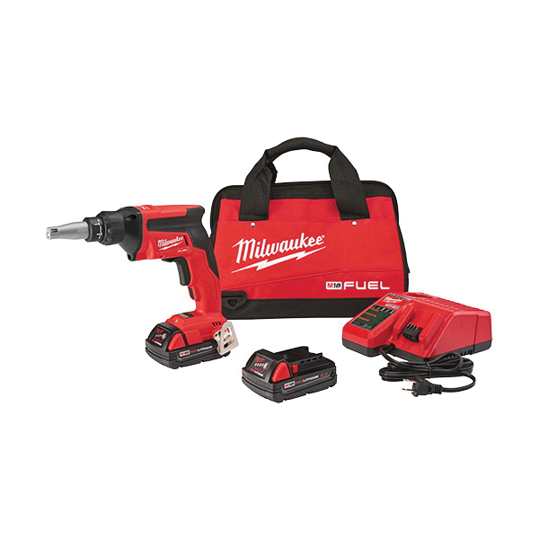 Milwaukee® 2866-22CT M18™ FUEL™ Compact Drywall Screwgun Kit, Lithium-Ion Battery
